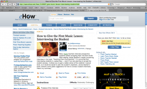 eHow article
