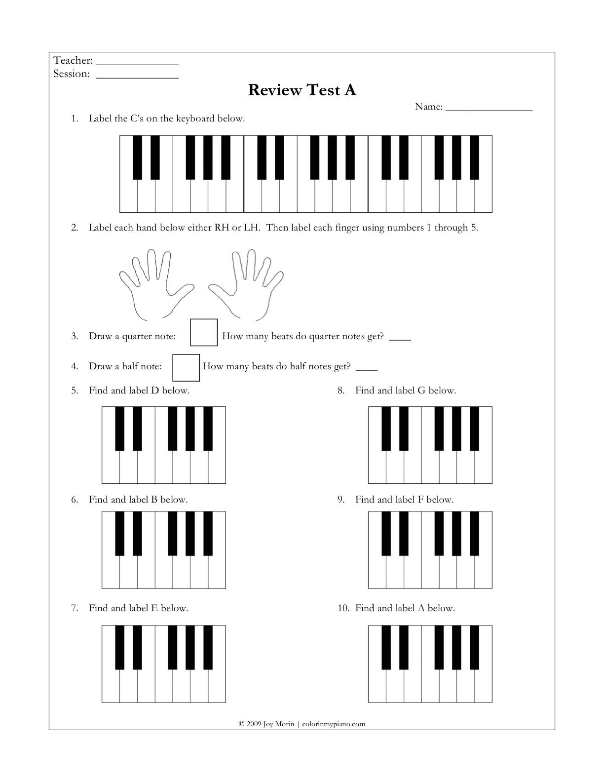new beginners class printables