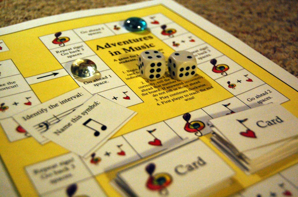 """Just Added: Board Game """"Adventures in Music"""" - Color In My ..."""