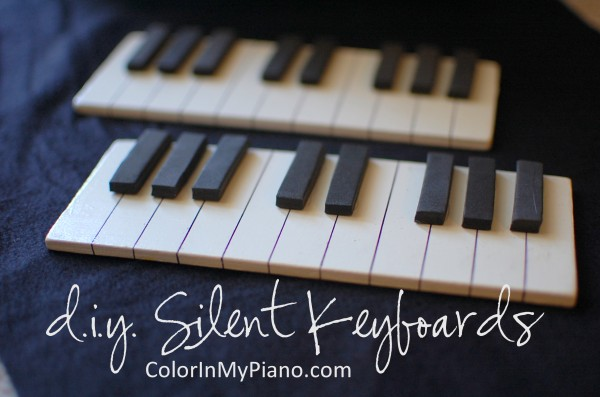 DIY: Silent Mini Keyboards - Color In My Piano