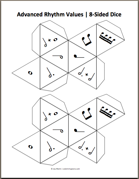 Sided Dice Template Keys (12-sided dice)