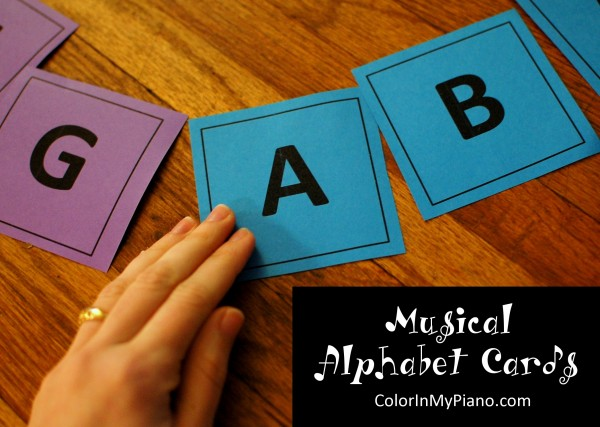 Just Added Musical Alphabet Cards Color In My Piano