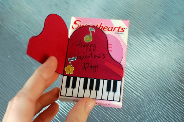 Piano Valentine Craft Printable Amp Tutorial Color In My