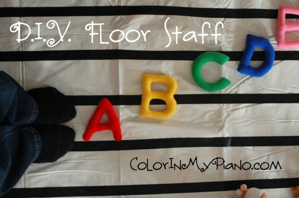 Diy Floor Music Staff For 10 Color In My Piano