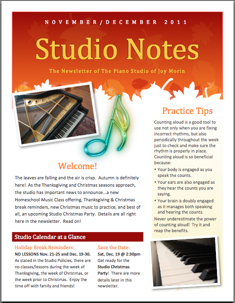 Sample studio newsletter color in my piano screen shot 2012 02 20 at 84547 am thecheapjerseys Gallery