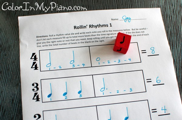 math worksheet : rollin  rhythms worksheet activity : Rhythm Math Worksheets