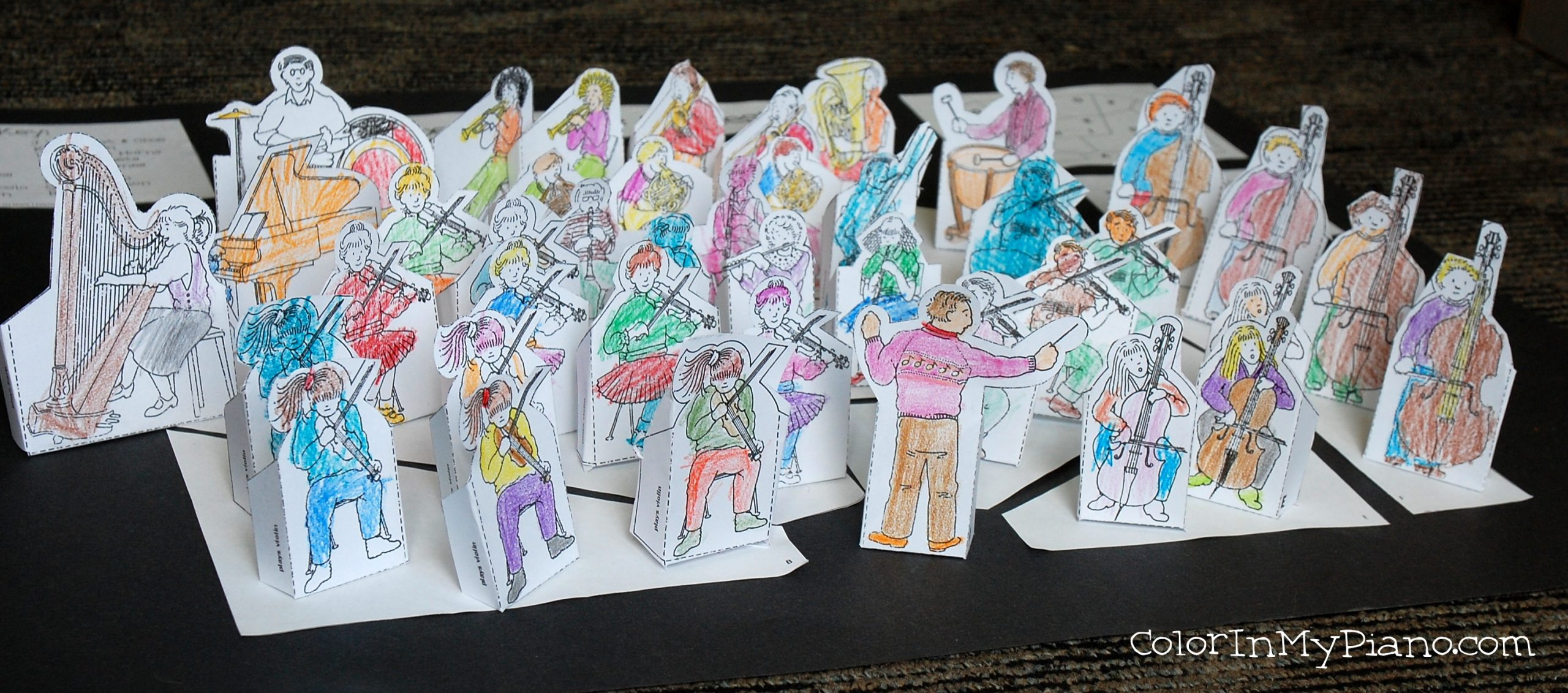 Instruments Of The Orchestra Study Free Orchestra Stage Pieces Color In My Piano