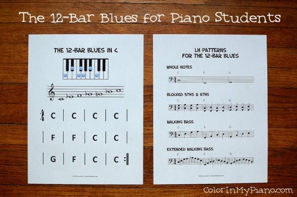 Piano 12 piano chords : Free Printable: 12-Bar Blues in C