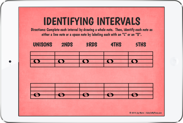 Identifying Intervals - iPad