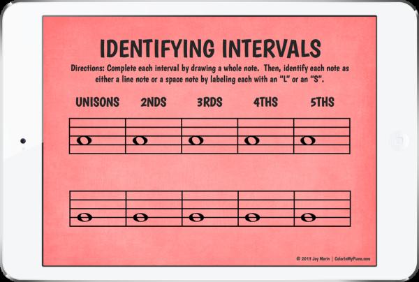 Identifying Intervals - iPad