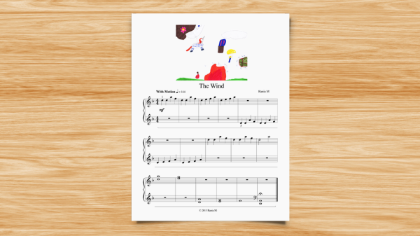 Rania - The Wind wood with illustrated score