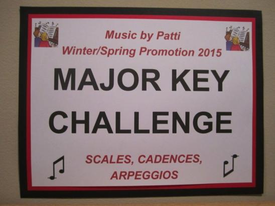 Major key challenge sign