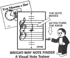 Wright-Way Note Finger vintage