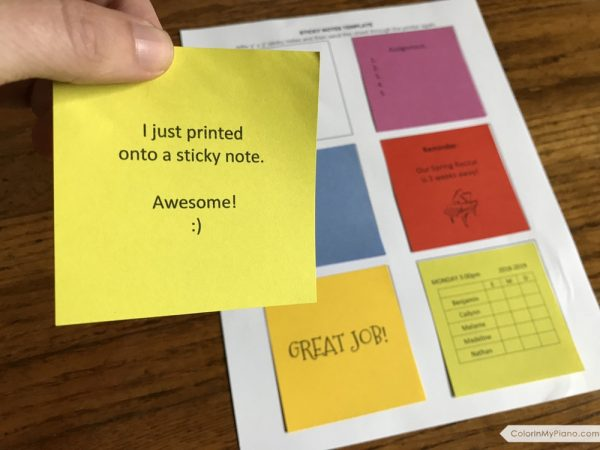 Free Printable Sticky Notes Template