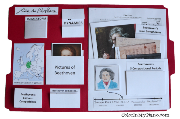 Beethoven lapbook inside